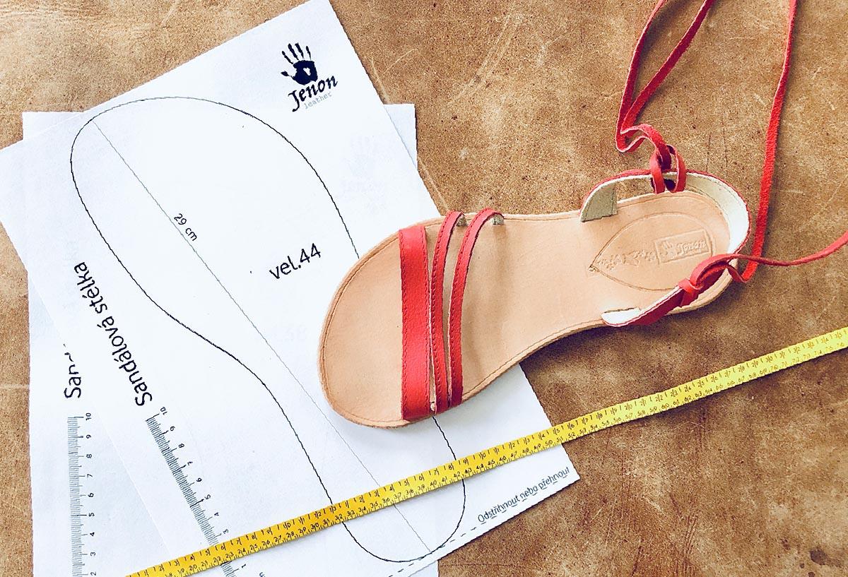 Sandály Jenon leather - meření velikosti